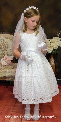 Cute Little Girl Dresses, Cute Little Girls, Girls Dresses, Flower Girl Dresses, White Communion Dress, Girls Communion Dresses, Dresses For Sale, Dresses Online, First Communion Veils