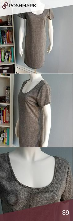 Forever 21 XL Ribbed Grey Knit Dress Product details  A ribbed knit dress featuring a round neckline and short sleeves. Works for casual and career evernts. Content 65% polyester -35% rayon Forever 21 Dresses Midi