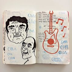 #sketchbook . . . . #art #artoftheday #artwork #draw #drawing #illustration #sketch #handmade #handdrawn #handdrawnart #design #penandink #markers #texture #type #typography #lettering #illustrator #photoshop #vector #pattern #logo #doodle #painting #music #guitar