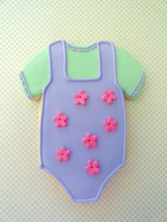 Baby Onesie Decorated Cookie
