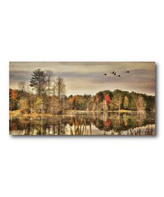 Love this At The Lake This Fall Wrapped Canvas on #zulily! #zulilyfinds