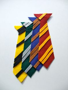 Harry Potter Inspired Felt PinOn Ties  FREE by byjrachelle on Etsy, $48.00