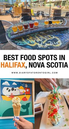 Foodie travel 73324300171061677 - Halifax, Nova Scotia is filled with amazing seafood spots and delicious food. Here are the best restaurants to eat at in Nova Scotia, Canada! Source by diaryofaTOgirl Quebec, Halifax Restaurants, Montreal, Nova Scotia Travel, Toronto Girls, Columbia, Food Spot, Atlantic Canada, Restaurant Guide