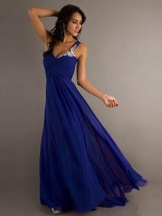 Dark blue prom dress