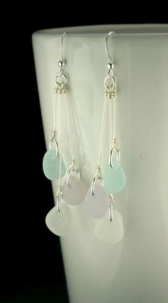 Beach Earrings GENUINE Sea Glass Jewelry by SurfsideSeaGlassGems
