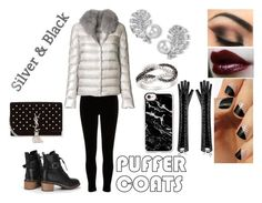 """""""Puffy Coats"""" by fashion-1993 on Polyvore featuring River Island, Herno, Chanel, DB Designs, SoGloss, Casetify, Yves Saint Laurent, coats, blackandsilver and puffercoats"""