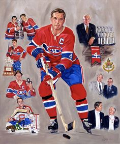 On this week's HNIC Opening tease, we feature Montreal Canadiens artist Michel Lapensée. Here is a sampling of his terrific work. Montreal Canadiens, Montreal Hockey, Maurice Richard, Hockey World, Nfl Fans, Hockey Cards, Sports Figures, Hockey Teams, Sports Art