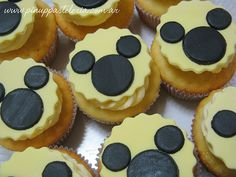 White Mickey Mouse Cupcakes
