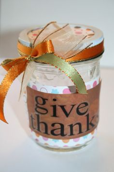 Kid Thanksgiving Craft: Giving Thanks Jar