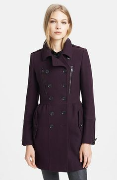 Burberry Brit 'Winsleigh' Double Breasted Military Coat $1195.00 #Nordstrom #wantitnow