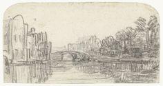 Rembrandt Harmensz. van Rijn | Gezicht op de Nieuwezijds Voorburgwal in Amsterdam, Rembrandt Harmensz. van Rijn, 1657 - 1659 |