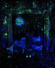 Romance in Mooonlight, glow in the dark by wickedspaceant on DeviantArt The Darkest, Romance, Paintings, Deviantart, Canvas, Romance Film, Tela, Romances, Painting Art