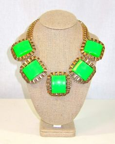 Neon Green Statement Necklace | Violet Clover