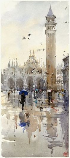 Igor Sava - Venice - beautiful watercolour painting inspiration
