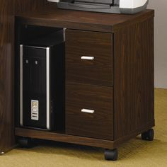 Coaster Company 2-drawer File Cabinet Computer Stand (Oak), Brown