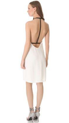 Alexander Wang Leather T-Strap Back Dress (back)