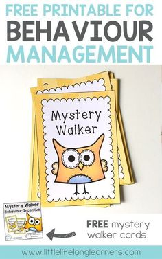 FREE Mystery Walker cards for behaviour management | How to get your class to line up | Freebies for Prep, Kindergarten, Preschool and Foundation students | Australian teacher | Classroom management |