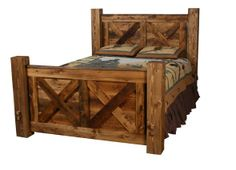 Weathered Pine Pioneer Bed