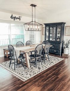 Home Decorators Collection Weyburn Bronze Caged Island Chandelier - The Home Depot Dining Room Design, Dining Room Table, Farmhouse Dining Room Lighting, Farm House Dinning Room, Dining Rooms, Vejle, Dining Room Inspiration, Dinning Room Ideas, Family Room