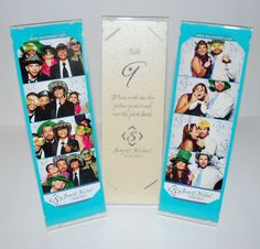 Perfect!  Wedding favor and escort card in one.  Plus it goes with the photo booth theme!