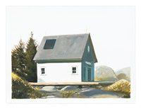 Island Studio/Quiet Afternoon by Bo Bartlett American Realism, Grant Wood, Bo Bartlett, Andrew Wyeth, Edward Hopper, Original Artwork, Outdoor Structures, Island, Studio