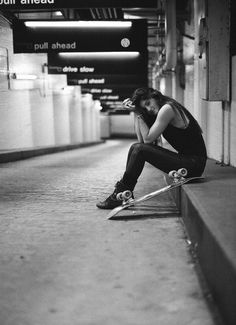 Subway Station Skater Girl