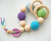 crochet teething toy: Made using vintage pattern