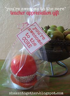 {create this} fruit filled teacher appreciation gifts & printable fruit tags - Shaken Together Appreciation Message, Employee Appreciation Gifts, Volunteer Appreciation, Teacher Appreciation Week, Volunteer Gifts, Staff Gifts, Team Gifts, Volunteer Ideas, Client Gifts