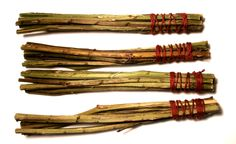 Smudge 'whisks', made of blackberry stems http://stangandcauldron.com/the-apothecary/herbarium/blackberry-witchs-whisk/