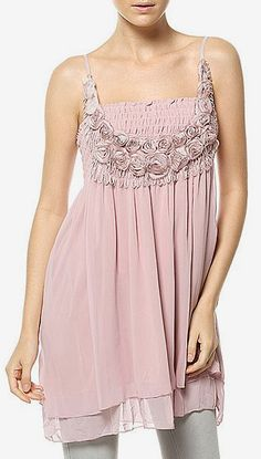 Scarlett Pink Shirred Tunic