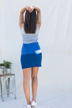 Vestido sin mangas en punto de canalé para mujer, fabricado en algodón orgánico…