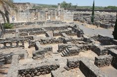 Capernaum, Israel ~ These ruins were something to see, I wonder if I stepped where Jesus once stepped.
