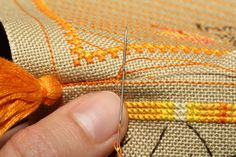 Simple cross-stitched pincushion tutorial @ CookOnStrike