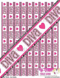 DIY DivaCheetah Printable 7/8 Ribbon Iron On Transfer by MaddieZee, $1.75