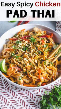 Cooking Recipes, Healthy Recipes, Easy Thai Recipes, Healthy Breakfasts, Easy Noodle Recipes, Spicy Food Recipes, Yummy Dinner Recipes, Healthy Snacks, Egg Recipes