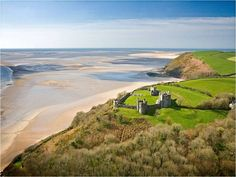Gower Peninsula - Wales * The Gower Peninsula in Wales is a highly scenic enclave of green hills, ruined castles, and surf-pounded beaches. Welsh Castles, Visit Wales, Road Trip, Free Entry, Parc National, South Wales, Hostel, Where To Go, Land Scape