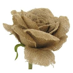 "28"" Natural Burlap Rose 