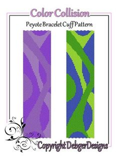 Color+Collision+-+Beaded+Peyote+Bracelet+Cuff+Pattern