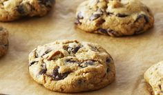 This Month's Recipes Choco Chips, Best Chocolate Chip Cookie, Mini Chocolate Chips, Chocolate Recipes, Anna Olson, Just Desserts, Dessert Recipes, Drop Cookie Recipes, Tray Bakes