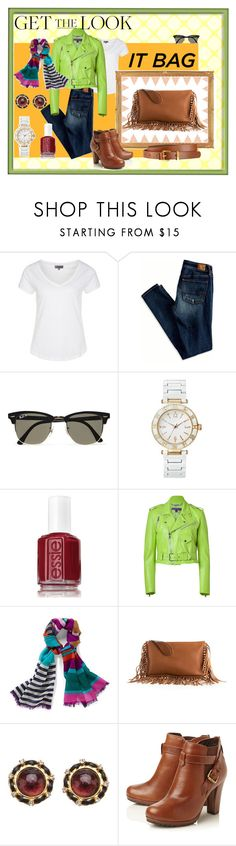 Bag It Well by cla220 on Polyvore featuring Zalando, Ralph Lauren Collection, American Eagle Outfitters, Dune, Valentino, Chanel, FOSSIL, Whistles, Ray-Ban and Essie