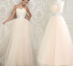 Tulle long strapless sweetheart corset long prom by sunpeng2011