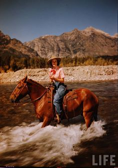 Cowgirl in Jackson Hole, WY.