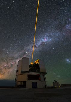 This image shows one of the four Unit Telescopes that make up ESO's Very Large Telescope (VLT) at Paranal.