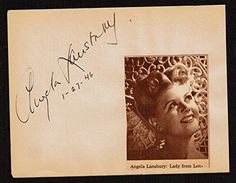Angela Lansbury signed autograph 4x5 Album Page Actress The Manchurian Candidate  Star Wars, Mark hamill, adam sandler, george clooney, psa  elizabeth taylor, actor, actress, country music, rock, music autographs  roy rogers, vintage movie, singer signature, autograph  index card, photo, 4x6 signed photo, signed envelope,  autographed first day of issue
