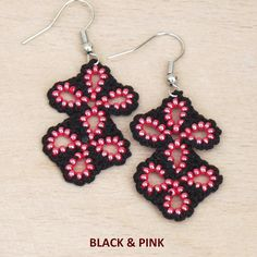 Turkish OYA Lace - Earring - Clover