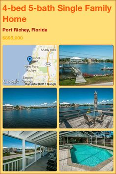 4-bed 5-bath Single Family Home in Port Richey, Florida ►$895,000 #PropertyForSale #RealEstate #Florida http://florida-magic.com/properties/8355-single-family-home-for-sale-in-port-richey-florida-with-4-bedroom-5-bathroom