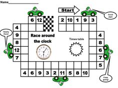 Race Around X Tables Game