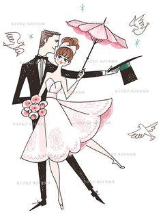 marie-marriage_kyokoaoyama.jpg #wedding #marriage #girlsillust