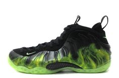 73fb4a91b8deb Mens Nike Air Foamposite One ParaNorman Black Electric Green New Nike Shoes