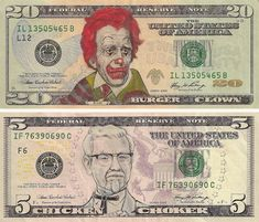 Pop-Cultured Currency: Art of Defaced US Dollars